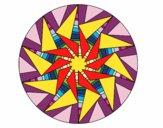 Mandala sol triangular