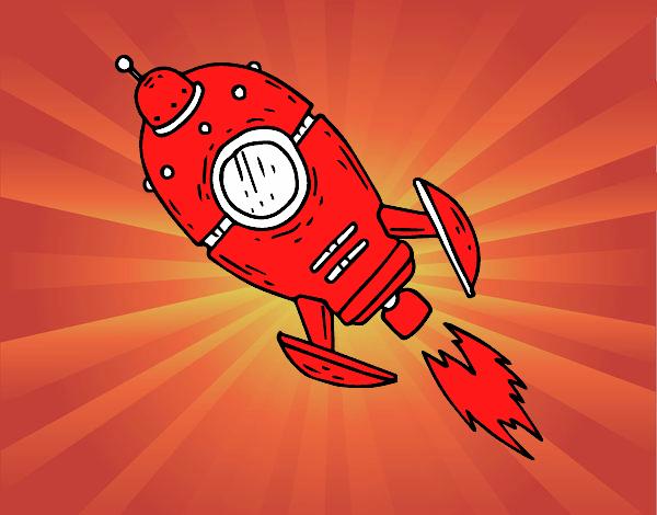 Cohete De Espacio De Dibujos: Dibujo De Un Cohete Espacial Pintado Por En Dibujos.net El