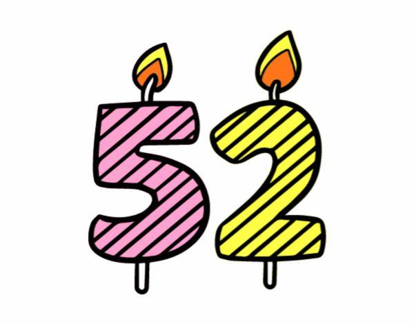 Dibujo de 52 a os pintado por en el d a 19 02 - Fiesta cumpleanos 8 anos ...