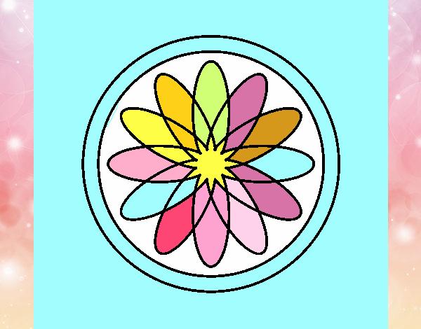 34 Mandalas Para Imprimir Y Colorear: Dibujo De Mandala 34 Pintado Por En Dibujos.net El Día 20