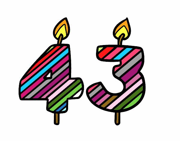Dibujo de 43 a os pintado por en el d a 23 02 - Fiesta cumpleanos 8 anos ...
