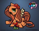 Dibujo Fluttershy pintado por queyla