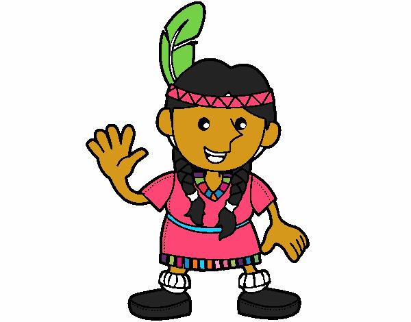 Dibujo de india karia venezolana pintado por en Dibujosnet el