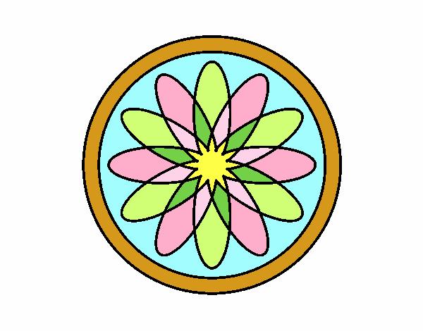 34 Mandalas Para Imprimir Y Colorear: Dibujo De Mandala 34 Pintado Por En Dibujos.net El Día 28