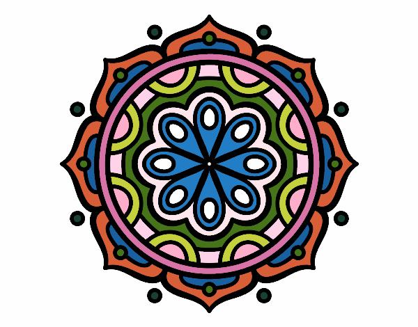 Dibujo De Mandala Meditación Para Colorear: Dibujo De Mandala Para Meditar Pintado Por En Dibujos.net