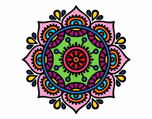 dibujo de mandala para relajarse pintado por en dibujos On dibujos para relajarse