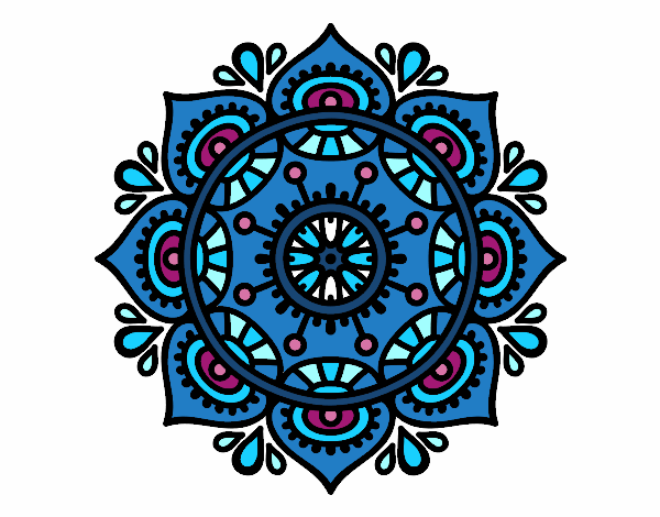 Dibujo De Mandala Para Relajarse Para Colorear: Dibujo De Mandala Para Relajarse Pintado Por Vucky En