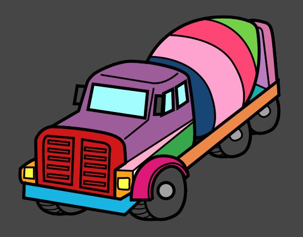 Dibujo De Camión Hormigonera Pintado Por En Dibujos Net El Día 16 12