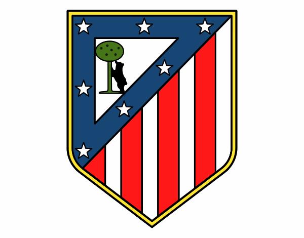 Equipo De Deporte Doodle Fondo Transparente: Dibujo De Escudo Del Club Atlético De Madrid Pintado Por