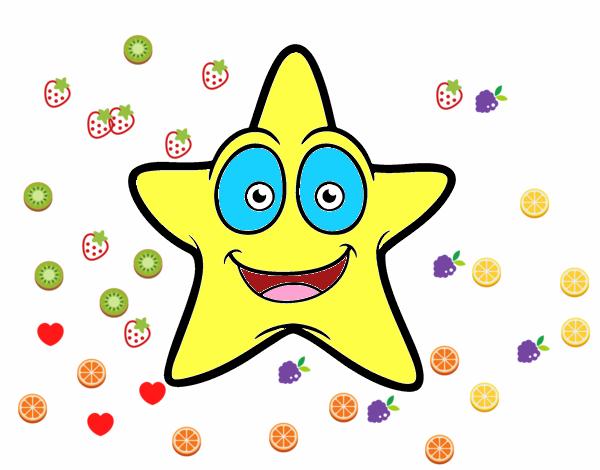 Estrella Sonriente Dibujos De Estrellas Para Colorear Y