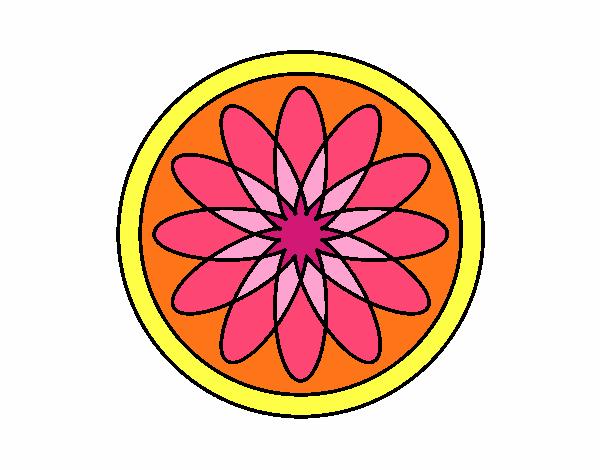 34 Mandalas Para Imprimir Y Colorear: Dibujo De Mandala 34 Pintado Por En Dibujos.net El Día 17