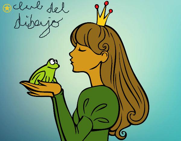 Dibujo De Tiana Y El Sapo Tiana Para Colorear: Dibujo De TIANA Y EL SAPITO. Pintado Por En Dibujos.net El