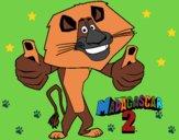 Dibujo Madagascar 2 Alex pintado por linda423