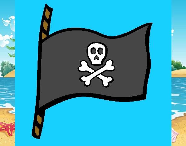 dibujos bandera pirata: