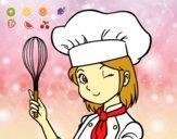 Dibujo Cocinera pintado por caramel122