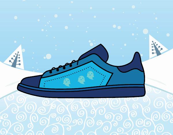 dibujo de zapatillas deportivas pintado por en dibujosnet