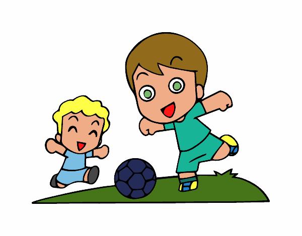 Dibujo De Fútbol En El Recreo Para Colorear: Dibujo De Fútbol En El Recreo Pintado Por Nemora En