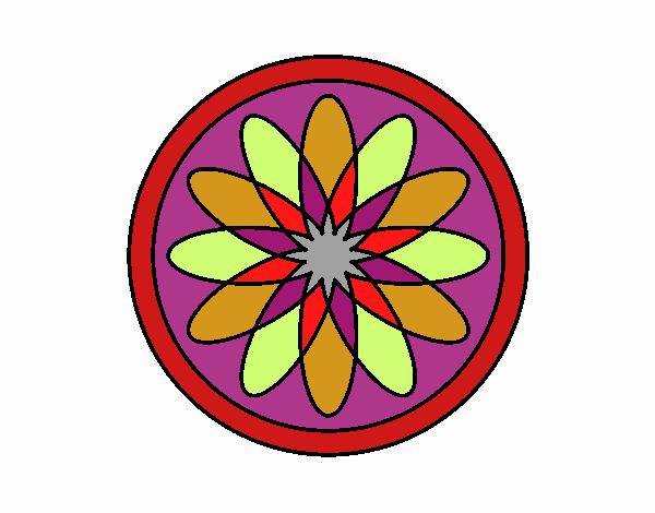 34 Mandalas Para Imprimir Y Colorear: Dibujo De Mandala 34 Pintado Por En Dibujos.net El Día 04