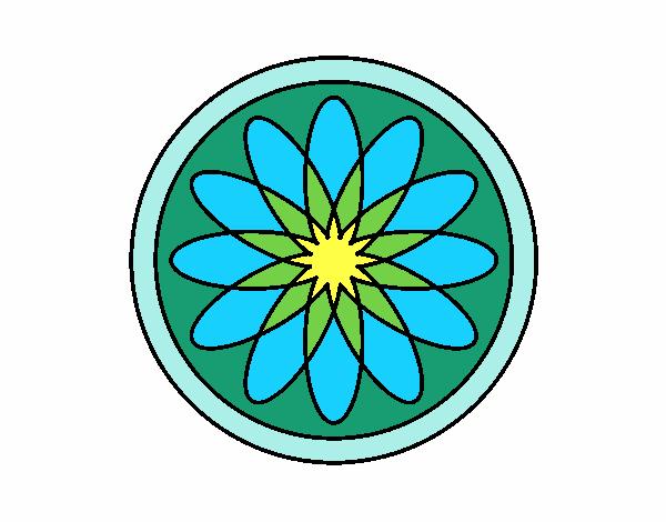 34 Mandalas Para Imprimir Y Colorear: Dibujo De Mandala 34 Pintado Por En Dibujos.net El Día 07