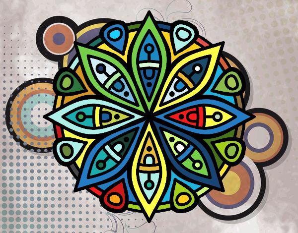 Dibujo de mandala para la concentraci n pintado por en el d a 08 04 16 a las 22 28 - Colores para la concentracion ...