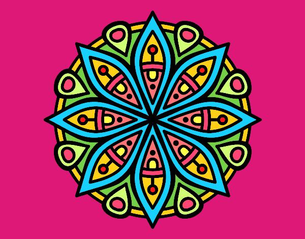 Dibujo de mandala para la concentraci n pintado por en el d a 09 04 16 a las 23 54 - Colores para la concentracion ...
