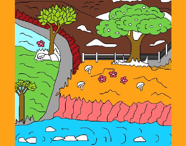 Dibujo de Paisaje terrestre pintado por en Dibujosnet el da 04