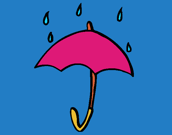 Dibujos De Paraguas Para Colorear E Imprimir: Dibujo De Paraguas Pintado Por En Dibujos.net El Día 10-04