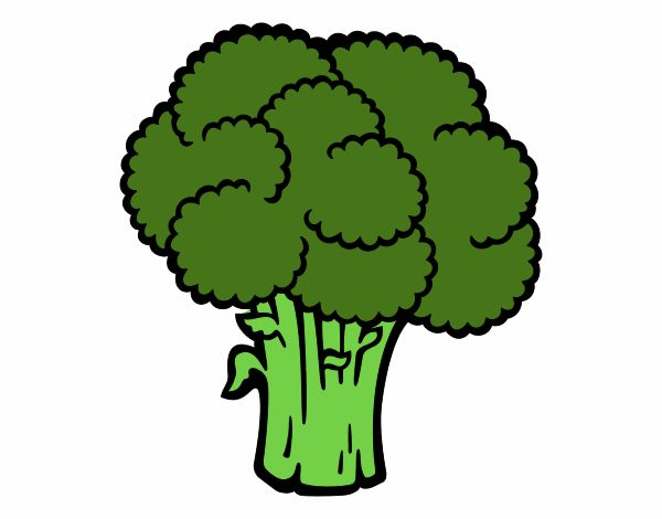 Dibujo de Verdura de brócoli pintado por en Dibujos.net el ...