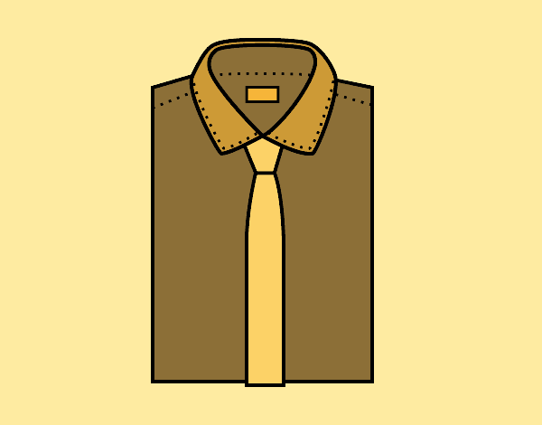 Dibujos De Corbatas Para Imprimir Y Colorear: Dibujo De Camisa Con Corbata Pintado Por Lucaflove En