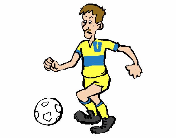 Dibujo De Jugador De Fútbol Con Balón Pintado Por Chicoxd: Dibujo De Jugador De Fútbol Pintado Por Tacos En Dibujos