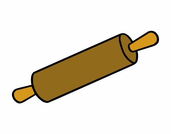 Dibujo de rodillo pastelero pintado por en el - Rodillo para lacar ...