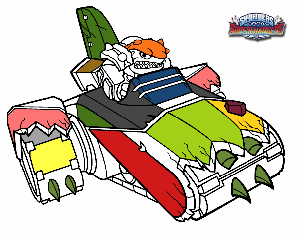 shark shooter terrafin coloring pages - photo#12