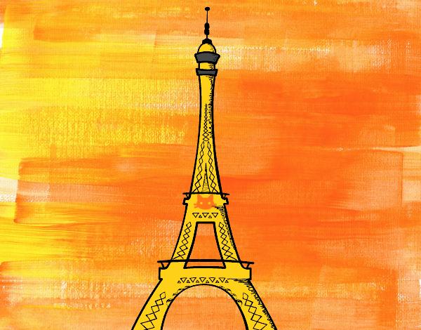 Torre Ifel En Dibujo: Dibujo De La Torre Eiffel Pintado Por En Dibujos.net El