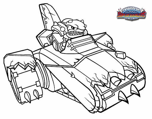 shark shooter terrafin coloring pages - photo#2