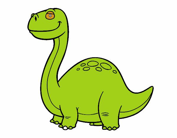 Dibujo de dino diplodocus pintado por en el - Dinosaure diplodocus ...