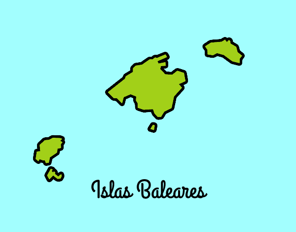 Dibujo de islas baleares pintado por en el d a - Islas de baleares ...
