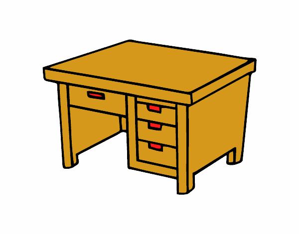 Dibujo de mesa de escritorio pintado por en el for Mesa de dibujo ikea