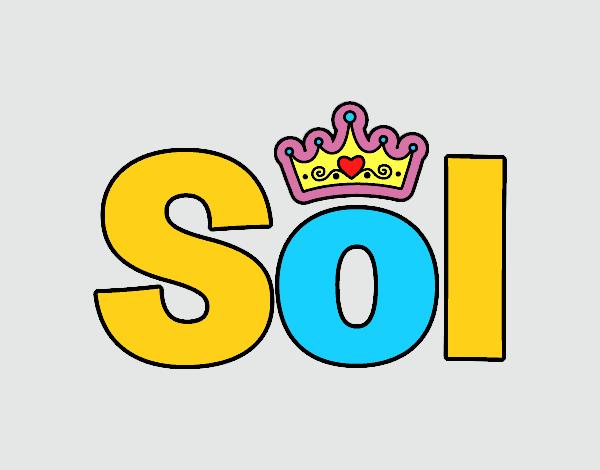 Dibujo de Sol nombre pintado por Marianyela en Dibujosnet el da