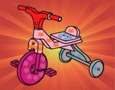 Dibujo Triciclo infantil pintado por maryfom