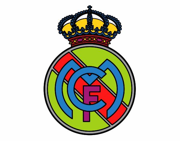 Dibujos Del Real Madrid Para Imprimir Y Colorear: Dibujo De Escudo Del Real Madrid C F Para Colorear Dibujo