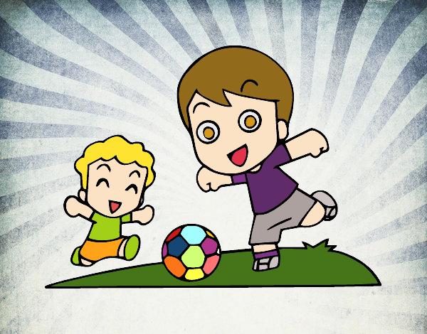 Dibujo De Fútbol En El Recreo Para Colorear: Dibujo De Fútbol En El Recreo Pintado Por Rubesthd En