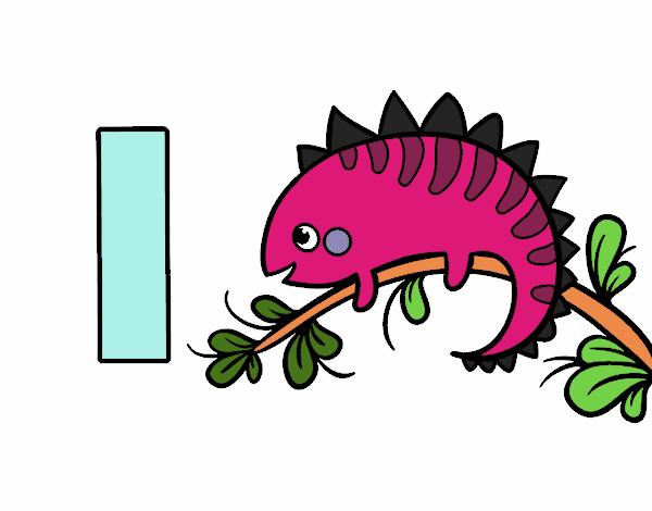 Dibujo de I de Iguana pintado por en Dibujosnet el da 030516 a