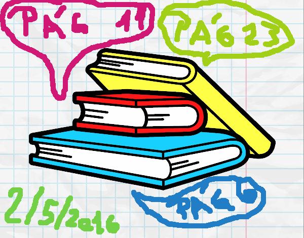 Dibujo De Lecturas De Colegio Para Colorear: Dibujo De Libros De Lectura Pintado Por En Dibujos.net El