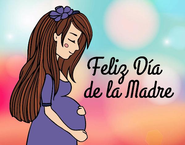 Dibujo Mamá embarazada en el día de la madre pintado por MariamAmin