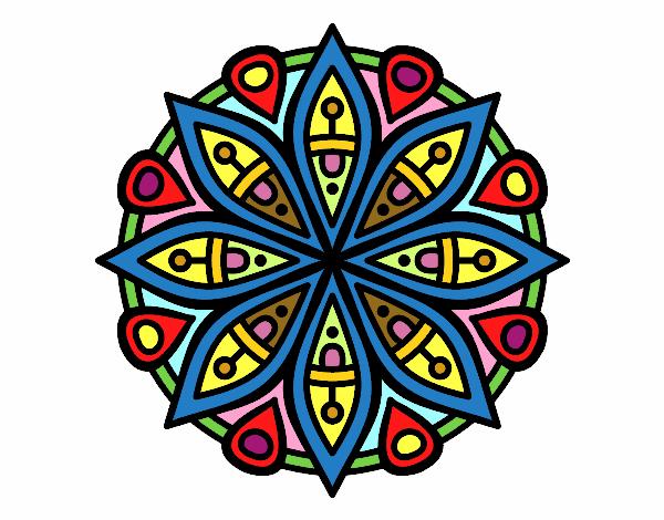 Dibujo de mandala para la concentraci n pintado por en el d a 03 05 16 a las 02 48 - Colores para la concentracion ...