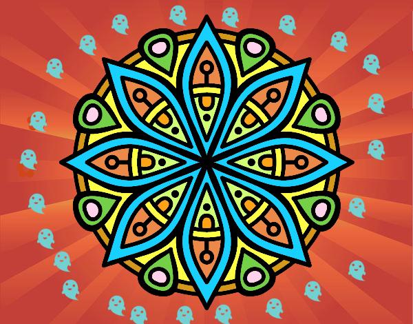 Dibujo de mandala para la concentraci n pintado por en el d a 05 05 16 a las 23 02 - Colores para la concentracion ...