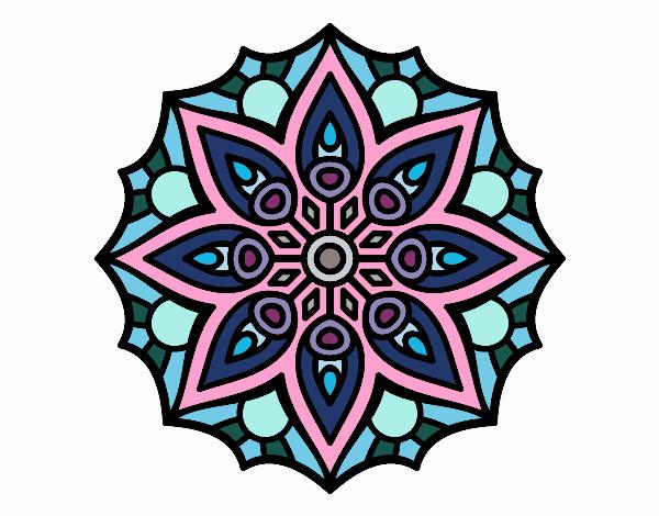 Dibujo de Mandala simetría sencilla pintado por en Dibujos ...