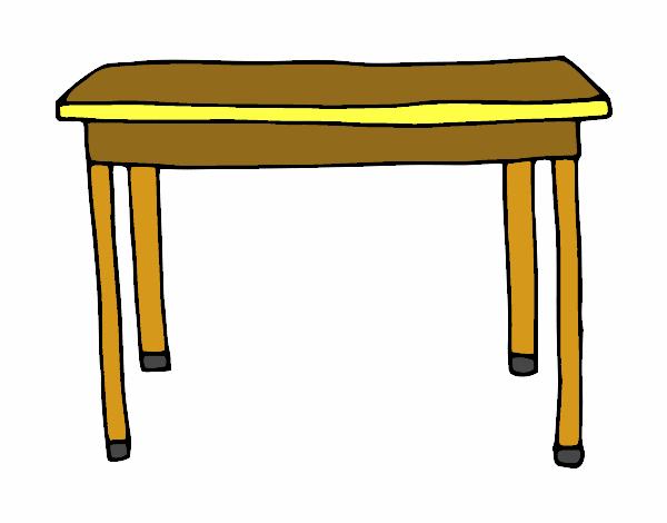 Dibujo de mesa rectangular pintado por en el for Mesa de dibujo ikea