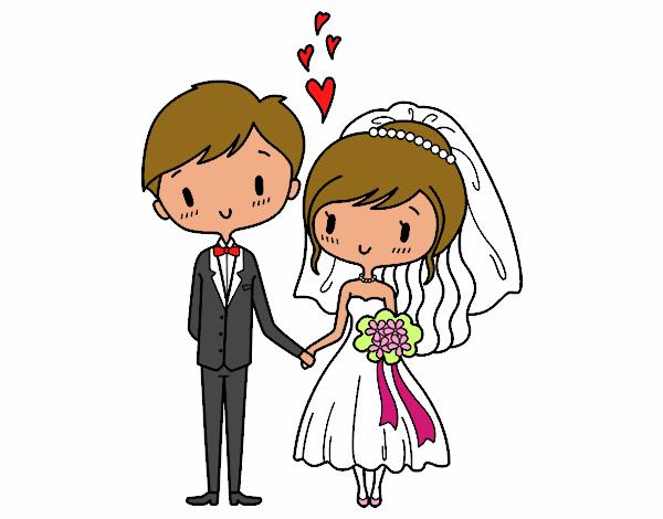 Dibujo de Novios muy enamorados pintado por en Dibujosnet el da