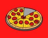 Dibujo Pizza italiana pintado por lolyyfeli
